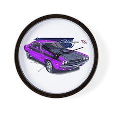 Dodge Challenger Purple Car Wall Clock