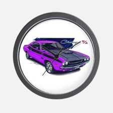 Dodge Challenger Purple Car Wall Clock