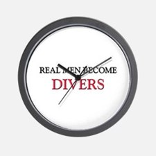 Real Men Become Divers Wall Clock