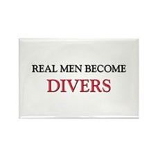Real Men Become Divers Rectangle Magnet