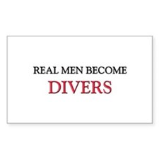 Real Men Become Divers Rectangle Decal
