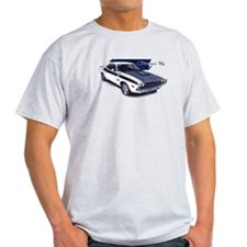 Dodge Challenger White Car T-Shirt