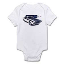 Dodge Challenger White Car Infant Bodysuit