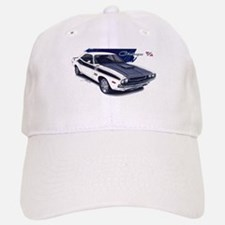 Dodge Challenger White Car Baseball Baseball Cap