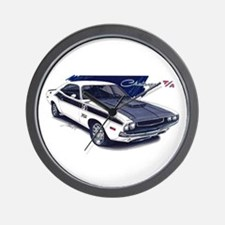 Dodge Challenger White Car Wall Clock