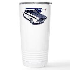 Dodge Challenger White Car Travel Mug