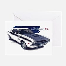 Dodge Challenger White Car Greeting Card
