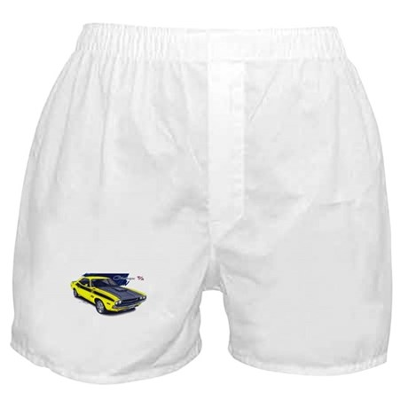 Dodge Challenger Yellow Car Boxer Shorts