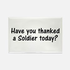 Thank A Soldier Gifts Rectangle Magnet