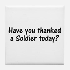 Thank A Soldier Gifts Tile Coaster
