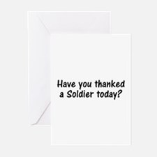 Thank A Soldier Gifts Greeting Cards (Pk of 20)