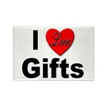 I Love Gifts Rectangle Magnet (10 pack)
