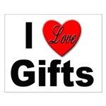 I Love Gifts Small Poster
