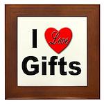 I Love Gifts Framed Tile