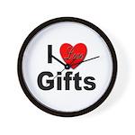 I Love Gifts Wall Clock