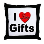 I Love Gifts Throw Pillow