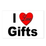 I Love Gifts Postcards (Package of 8)