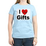 I Love Gifts (Front) Women's Pink T-Shirt