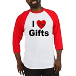 I Love Gifts (Front) Baseball Jersey