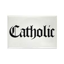 Catholic Rectangle Magnet