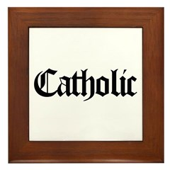 Catholic Framed Tile