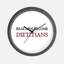 Real Men Become Dietitians Wall Clock