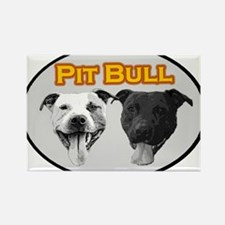 Pit Bull (yellow) Rectangle Magnet