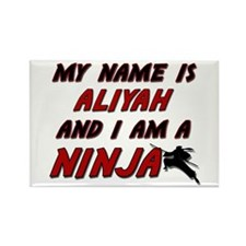my name is aliyah and i am a ninja Rectangle Magne