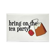 Funny Tea Party Rectangle Magnet