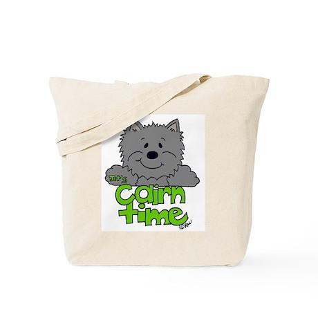 'Big Cairn: Gray/Green Tote Bag