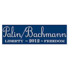 Palin / Bachmann 2012 Bumper Bumper Sticker