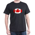 Canadian oval flag Black T-Shirt