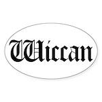 Wiccan Oval Sticker (10 pk)