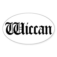 Wiccan Oval Decal
