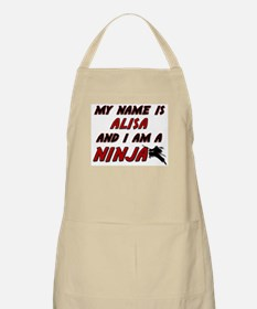 my name is alisa and i am a ninja BBQ Apron