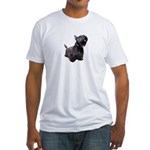 Black Terrier Fitted T-Shirt