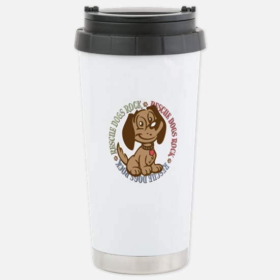 Rescue Dogs Rock 2 Stainless Steel Travel Mug