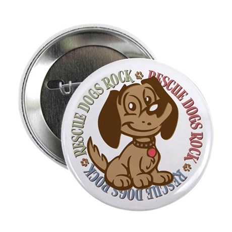 "Rescue Dogs Rock 2 2.25"" Button (10 pack)"