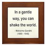 Gandhi 15 Framed Tile