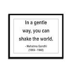 Gandhi 15 Framed Panel Print