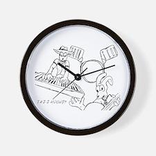Unique Rabbit drawings Wall Clock