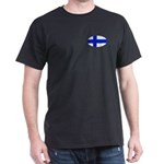Oval Finnish flag Dark T-Shirt