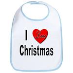 I Love Christmas Bib
