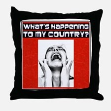 """What's Happening?"" Throw Pillow"