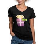 Vava's Favorite Gift Women's V-Neck Dark T-Shirt