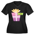 Vava's Favorite Gift Women's Plus Size V-Neck Dark