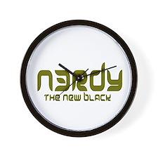 NERDY - The New Black Wall Clock