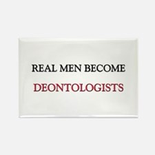 Real Men Become Deontologists Rectangle Magnet