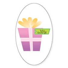 YiaYia's Favorite Gift Oval Decal
