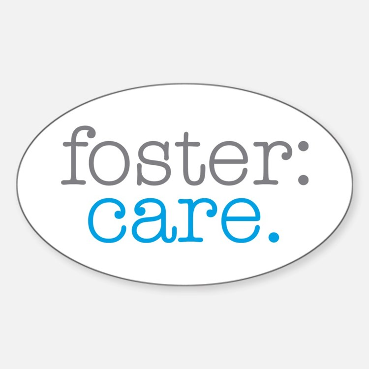 foster:care. Oval Decal
